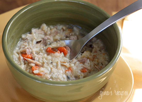 Pam 101: Chicken, Shiitake and Wild Rice Soup