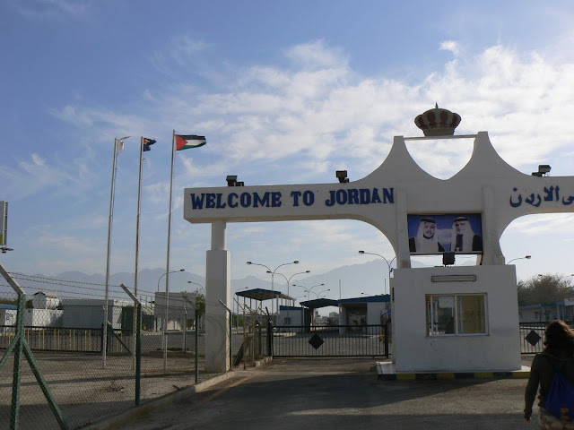 Frontera Elat-Aqaba, Yitzhak Rabin border, welcome to jordan, bienvenidos a Jordania
