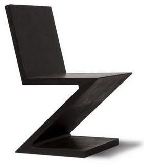 Unos de la uno neoplasticismo y mies for Silla zig zag planos