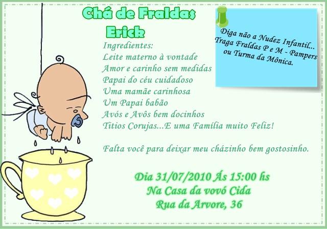 Um Pote De Felicidade Mais Modelos De Convite Chá De Fralda