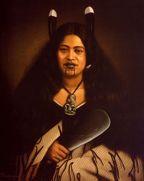 Female Maori Tattoo Woman