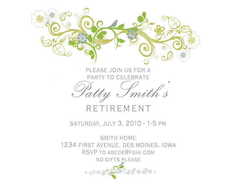 Free Printable Retirement Party Invitations could be nice ideas for your invitation template
