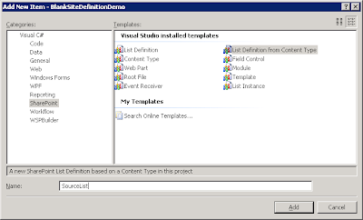 creating source list definition