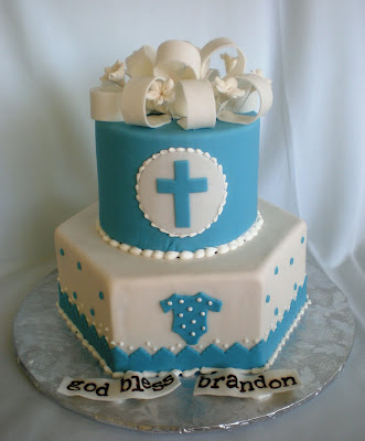 Baby Picture Studio on The Beehive  Baby Boy S Baptism Cake