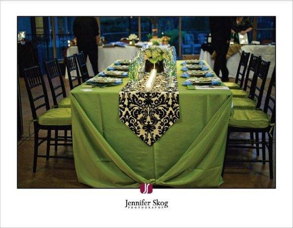 damask and green wedding