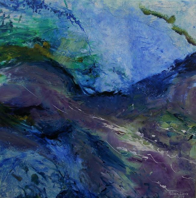 ange bleu (abstrait)
