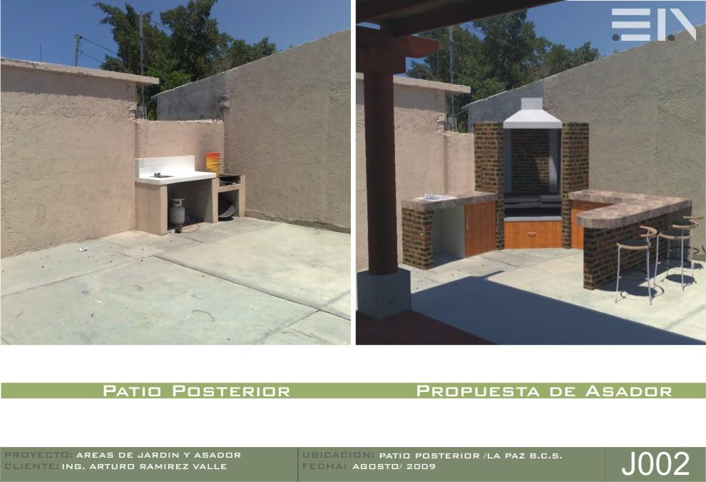 Arq eduardo alvarez areas de jardin y asador for Asador para jardin