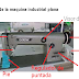 Partes de la máquina de coser plana sencilla