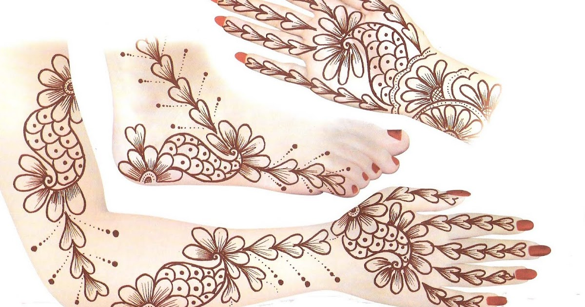 Simple Mehndi Patterns On Paper : Arabian mehndi designs design on paper