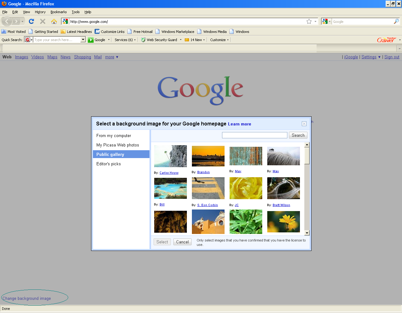 Google homepage wallpaper for Homepage wallpaper