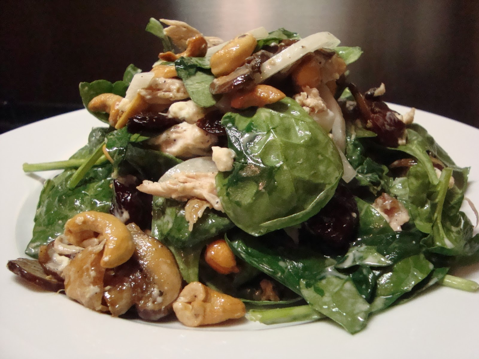Kitchen Centsability : Wilted Spinach Chicken Salad with Lots of Tasty ...