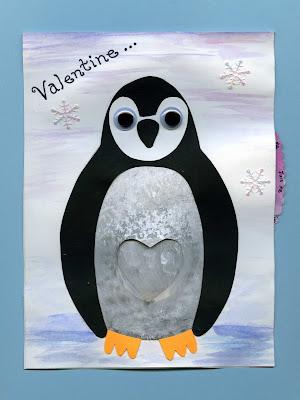 Penguin Valentine Card