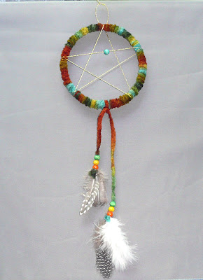 That artist woman how to make a dreamcatcher for Easy to make dream catchers