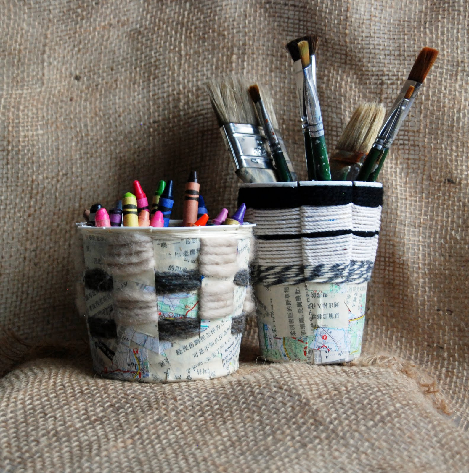 Basket Weaving Uses : That artist woman basket weaving using recycled containers