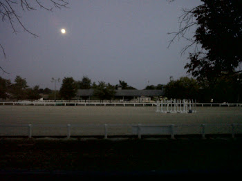 The moon rising over Arena 15