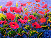 Giverny Poppies