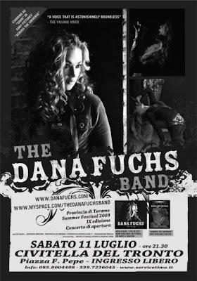DANA FUCHS band, concerto gratuito – unica data per l'Abruzzo