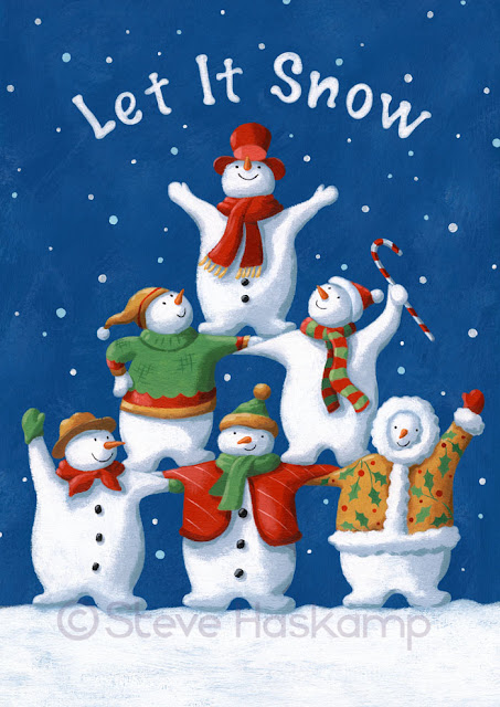 Steve haskamp s let it snow say the snowmen