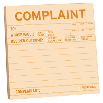 If you have a complaint about anything you can fill in an online form by clicking on the pic below