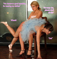 Beautiful governess lessons spank Mia
