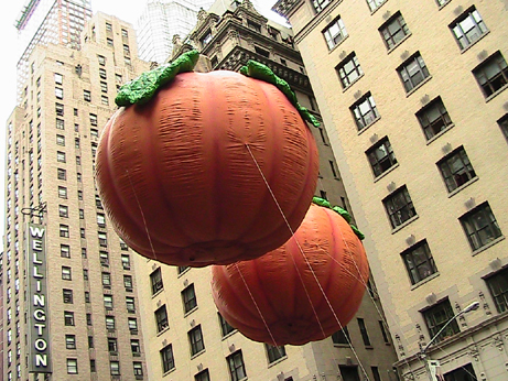 Macy's Thanksgiving Parade pumpkins