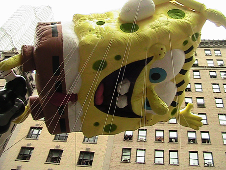 Sponge Bob Float Macy's Thanksgiving Parade