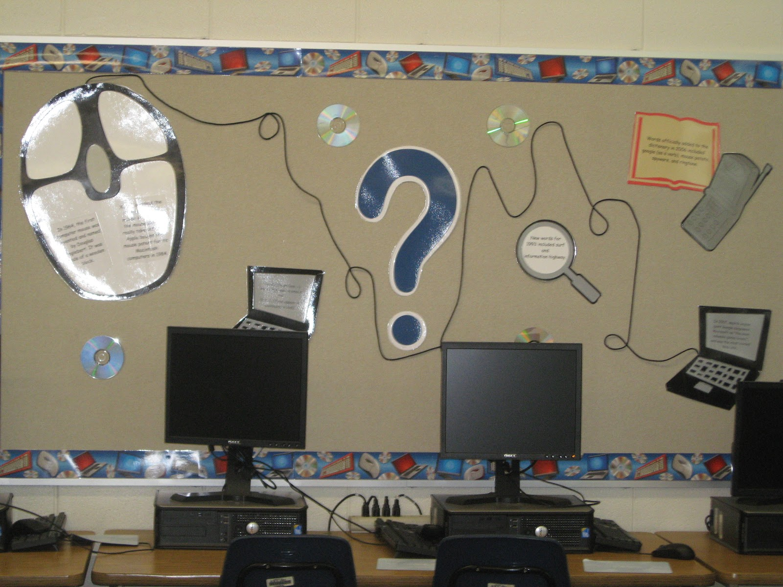 Computer Classroom Decorations ~ Computer lab bulletin board ideas connecting the bots