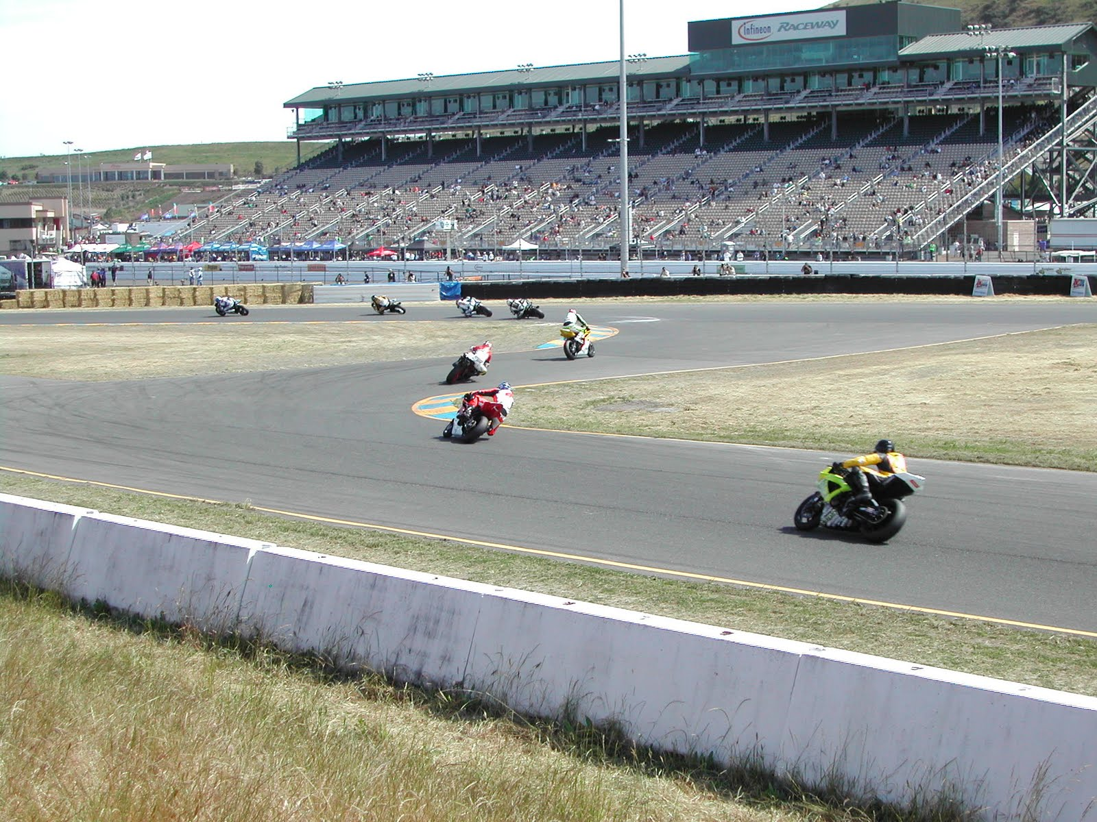 Turn 9 action the main grandstand in the background