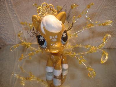 Petshop poney ocre et blanc - Cheval petshop ...
