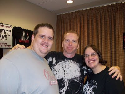 Amanda and Jimmy with Courtney Gains