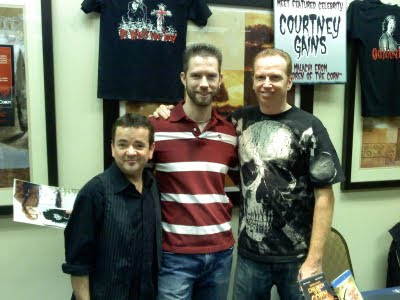 Shawn Campbell with John Franklin and Courtney Gains