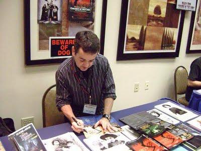 John Franklin Signing Susan's DVD's