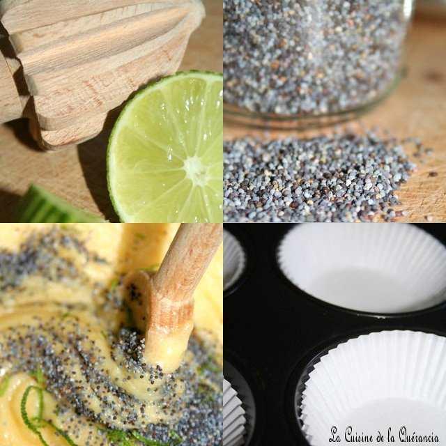 recettes dessert  Cup cakes limoncello et graines de pavot