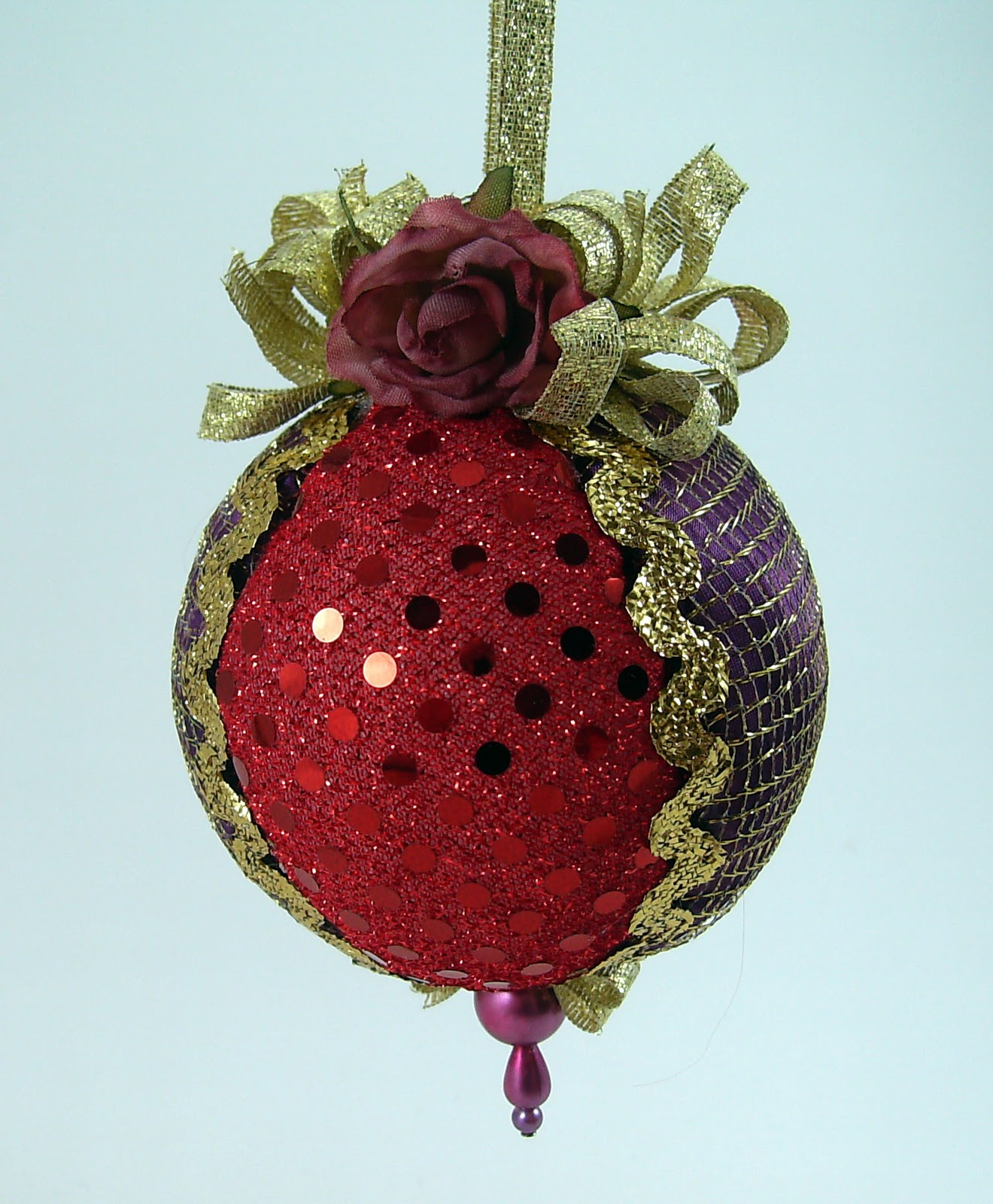 Quilted Christmas Ball Ornaments | Bumbleberries Boutique