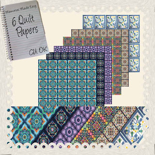 6 Quilt Block Papers (CU OK) {Memories Made Easy} QuiltBlucksBg_Preview