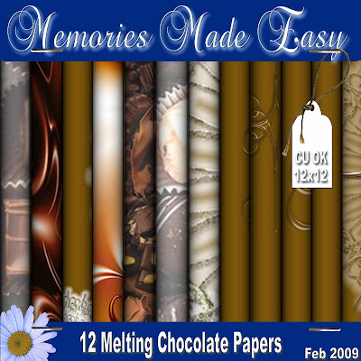 Melting Chocolate MME_Kit_MC_12Papers_PREVIEW