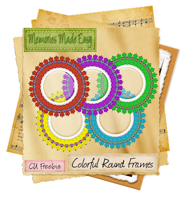 Colorful Round Frames (Memories Made Easy) MME_ColorfulRoundFrames_Preview