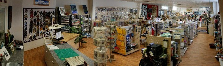 Our store: view from framing counter