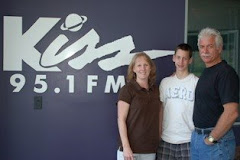 Vikki, Luke & Mark Pier at the 95.1 Radio Station Interview