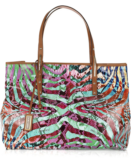 Jimmy Choo Scarlet Large Printed Tote Handbag