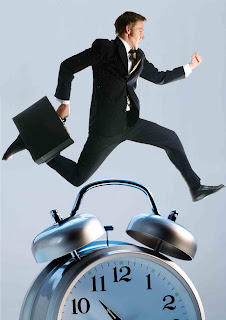 business man clock