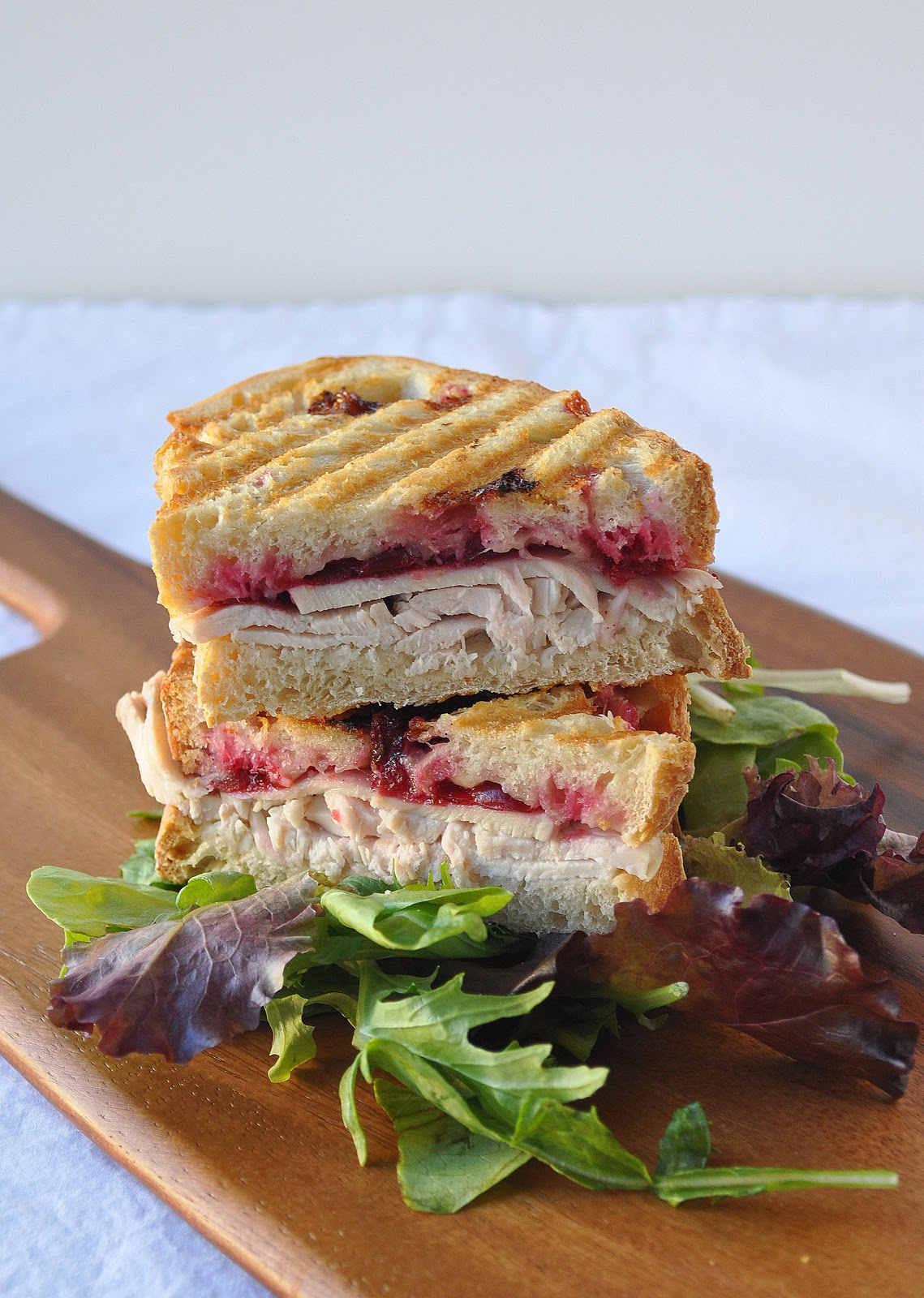 Turkey, Cranberry and Gruyere Panini | Lemons and Lavender
