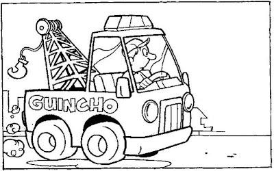 tudo aqui online pro desenho de caminhão guincho para colorir