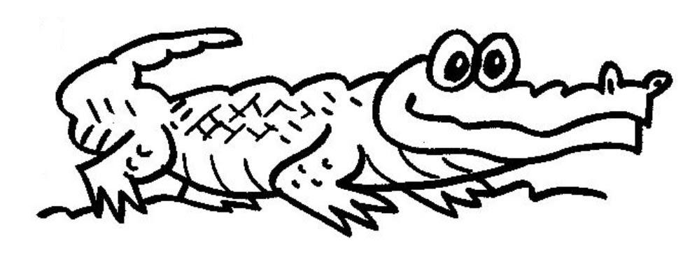 print desenhos desenho jacaré para pintar desenho de animais