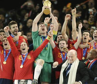 Spain became winner team and won the FIFA World Cup 2010 South Africa.