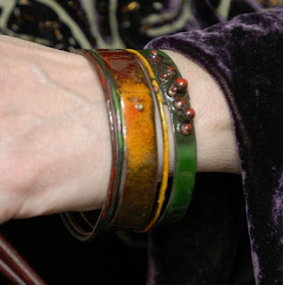 My mom models the East Indies Bracelets
