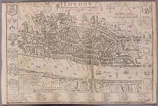 John Norden's map of London in 1593