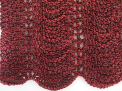 c2knits Feather and Fan Scarf with Beads Pattern