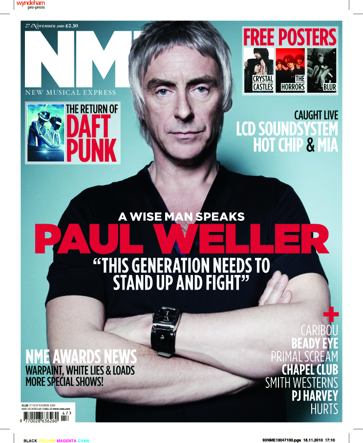 nme front cover. the front cover of the NME