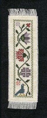 Prairie Schooler bookmark that I stitched